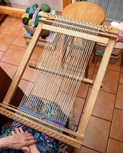 Tapestry Frame Loom with a Foot Treadle